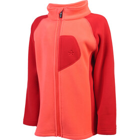 Color Kids Rafting 2 Face Fleece Jack Kinderen, fiery coral